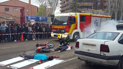 STOP MADRID REALIZA UN SIMULACRO DE ACCIDENTE DE TRÁFICO: ASFALRELATOS